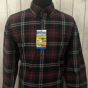Orvis Large Red & Black Heritage Button-Up Shirt